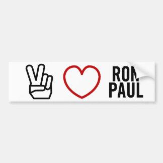 Peace Love Ron Paul Bumper Stickers
