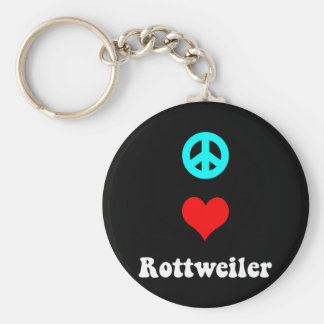Peace love Rottweiler Key Ring