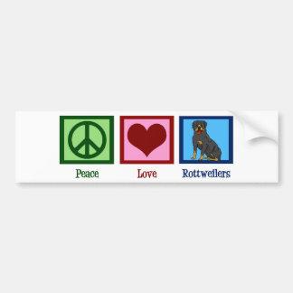 Peace Love Rottweilers Bumper Sticker