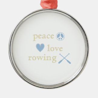 Peace Love Rowing Christmas Ornament
