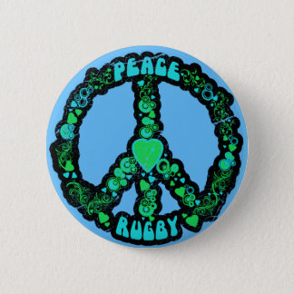 Peace love Rugby 6 Cm Round Badge