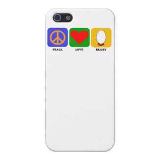 Peace Love Rugby iPhone 5 Cover