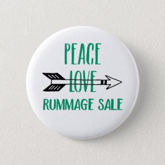 Peace Love Rummage Sale Button