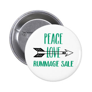 Peace Love Rummage Sale Button
