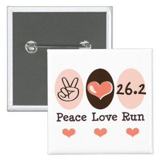Peace Love Run 26 2 Marathon Button