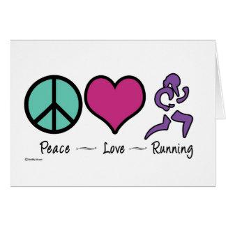 Peace Love Running Card