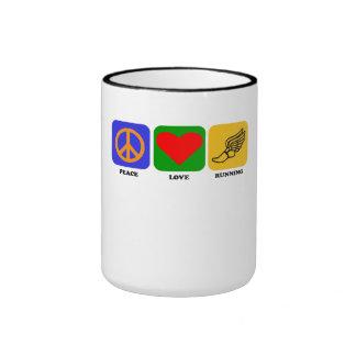 Peace Love Running Ringer Mug
