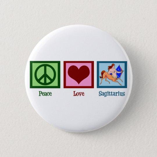 Peace Love Sagittarius 6 Cm Round Badge
