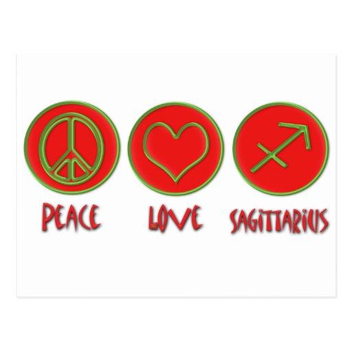 Peace Love Sagittarius Post Card