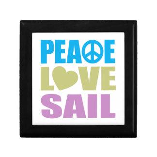 Peace Love Sail Small Square Gift Box