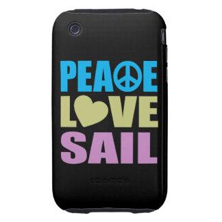 Peace Love Sail Tough iPhone 3 Case