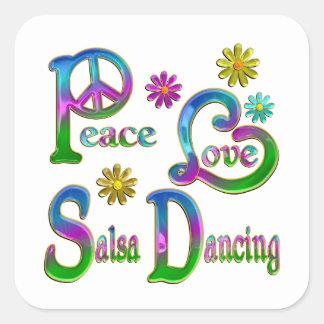 Peace Love Salsa Dancing Stickers