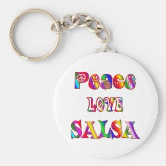 Peace Love Salsa Key Ring