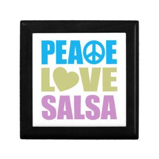 Peace Love Salsa Small Square Gift Box