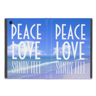 Peace, Love, Sandy Feet iPad Mini Case
