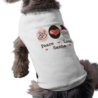 Peace Love Santa Dog Tee Shirt
