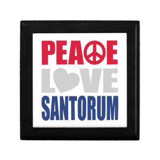 Peace Love Santorum Jewelry Boxes