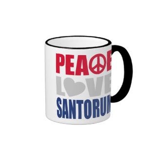 Peace Love Santorum Mug