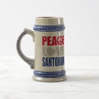 Peace Love Santorum Mugs