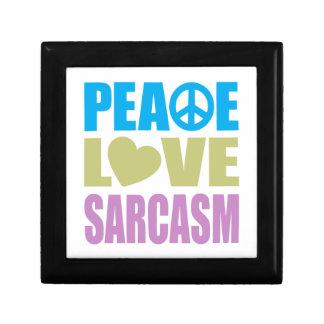 Peace Love Sarcasm Jewelry Box