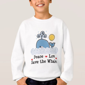 Peace Love Save The Whales Kids Sweatshirt