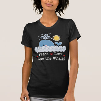Peace Love Save The Whales Sheer V neck Tee