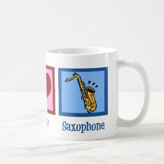 Peace Love Saxophone Coffee Mug