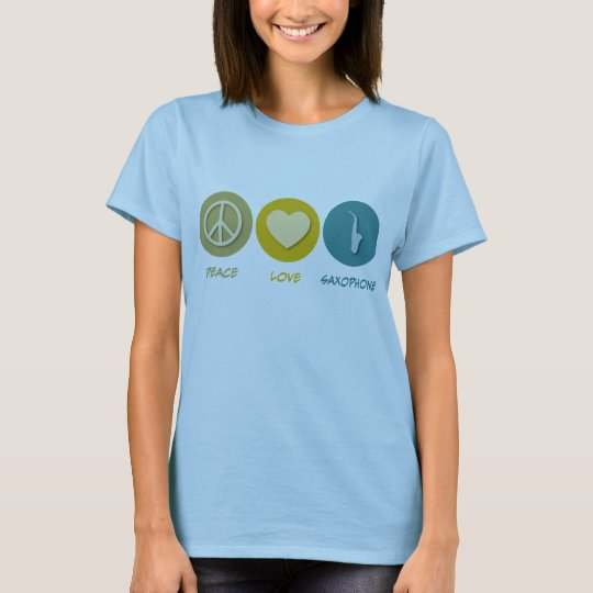 Peace Love Saxophone T-Shirt
