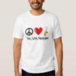 Peace, Love, Saxophone Tshirt