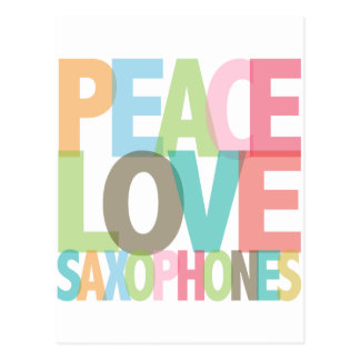 Peace Love Saxophones Tees & Gifts Postcard