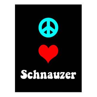 Peace love Schnauzer Postcard