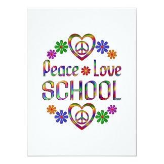 Peace Love School Personalized Announcements