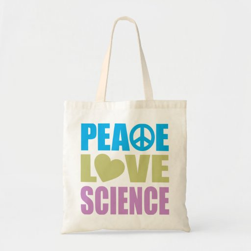 Peace Love Science Tote Bags