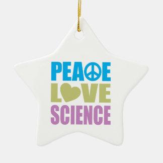 Peace Love Science Christmas Ornament