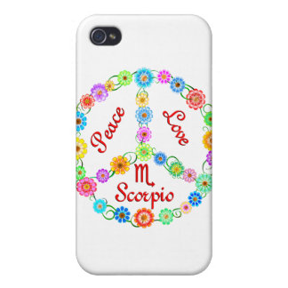 Peace Love Scorpio iPhone 4 Case
