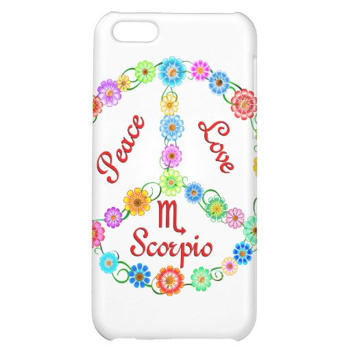 Peace Love Scorpio Cover For iPhone 5C