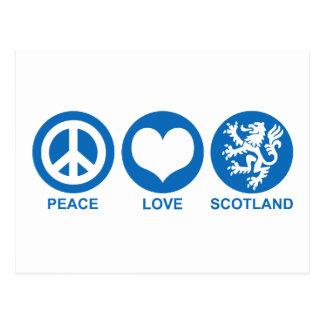Peace Love Scotland Postcard
