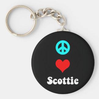 Peace love Scottie Key Chain