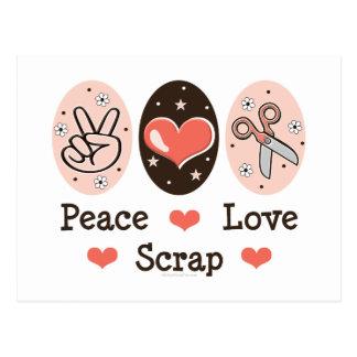 Peace Love Scrap Scrapbooking Postcard Stationery