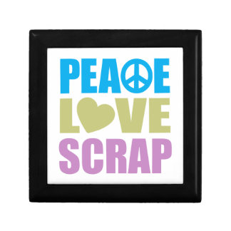 Peace Love Scrap Small Square Gift Box