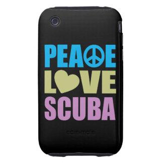 Peace Love Scuba Tough iPhone 3 Covers
