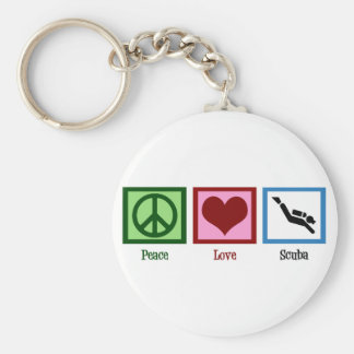 Peace Love Scuba Diving Key Ring