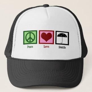 Peace Love Seattle Cap