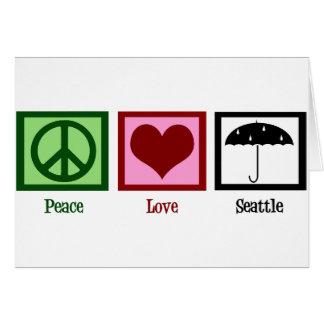 Peace Love Seattle Card
