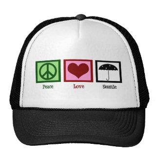 Peace Love Seattle Trucker Hat