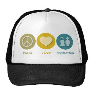 Peace Love Senior Citizens Hat