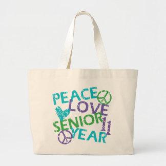 Peace Love Senior Year 2011 Jumbo Tote Bag