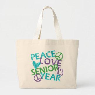 Peace Love Senior Year 2013 Jumbo Tote Bag