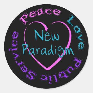 Peace Love Service Classic Round Sticker