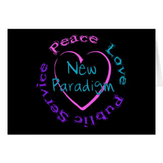 Peace Love Service Greeting Card